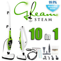 Gleam Steam 10 in 1 1500W Mop + hand held steamer + accs. - uses H2O (x5x6x10)