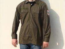 Camicia uomo verde militare NUOVA Made in Austria 100% cotone Taglie: M-L-XL-XXL