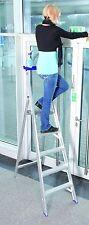 Alumiumleiter, 1 x 7 Stufen,Stehleiter, ganze Stufe