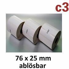 76x25 mm thermoetiketten ablösbar EPSON tm-l90 ZEBRA