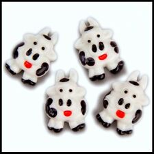 Dairy Cows * Discontinued 5 Glass shapes flat-backed Mosaic Tile Gems