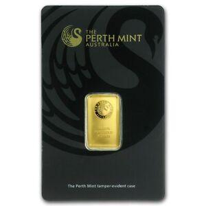 5g Gold Bullion - Kangaroo Gold Bar - Perth Mint - Australian Bullion