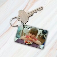 Personalised Photo Keyring-Double or Single Side Print-Any Picture-Text Option