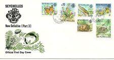 FDC Seychellen Fisch Schmetterling Echse 1978 /35/