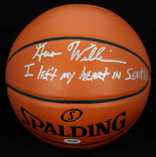 Gus Wizard Williams SIGNED I/O Basketball Seattle Supersonic PSA/DNA AUTOGRAPHED
