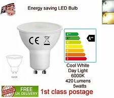 5W LED GU10 Light Bulb Energy Saving Spotlight Lamp A+ Cool White Day light