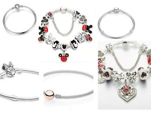 Disney Charm Bracelet Come With Charms  As Show On Pictures + FREE GIFT BAG