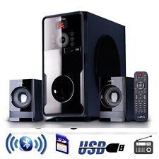 Bluetooth 2.1Ch Home Theater Surround Sound Speaker System Remote USBSD FM Radio