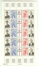 YVERT N°1695 x 5 BANDES GENERAL DE GAULLE TIMBRES NEUFS sans CHARNIERES