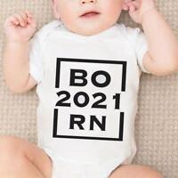 Newborn Baby Bodysuit Summer Clothes Boys Girls Jumpsuit Born L9J5