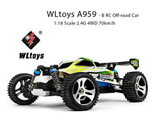 WLtoys A959 - B 1:18 Scale 2.4G 4WD 70km/h RC Off-road Electric Car RTR
