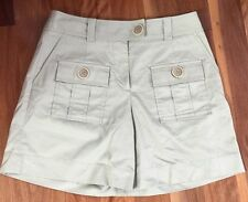 COUNTRY ROAD Beige Safari High Waisted Shorts Sz 8 (AU 8-10)