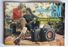 Nikon EM Owners Manual VGC