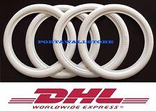 """ATLAS 2X16""""& 2X15""""White Wall Tyre insert Trim Set VW Bug Pre Beetle Karmann Ghia"""