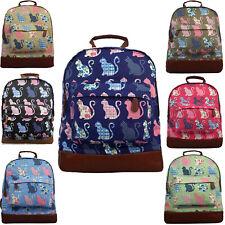 Cat Kitten Womens Large Backpack Ladies Girls Canvas School Backpack Travel