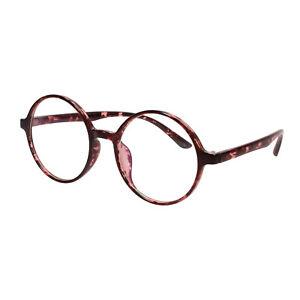 Oversized Retro Vintage Round Eyeglass Frame Optical Spectacles
