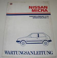 Werkstatthanbuch Ergänzung Nissan Micra K10 / K 10 Stand Februar 1985!