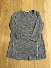 LADIES GREY TUNIC TOP SIZE SMALL (Fit 8-10)
