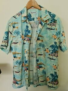 Tommy Bahama Hawaiian  Men's Shirt 100% Silk Size Small