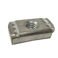 "New listing (100) 3/8""-16 No Spring Strut Channel Nut Zinc Plated For Unistrut/B-Line P3006"