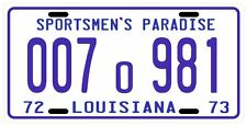 JAWS movie shark autopsy replica 1973 Louisiana License plate