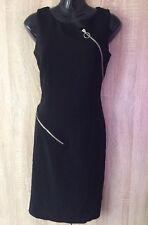 LUXURY MOSCHINO COUTURE MADE IN ITALY BLACK WOMEN DRESS UK10 US8 RRP £650