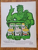 1960 Jolly Green Giant Ad  The Big Green Man Has a Wonderful New Line