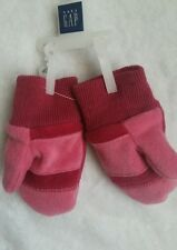 New Baby GAP Girls Fleece Mittens Gloves Pink Sz XS/S