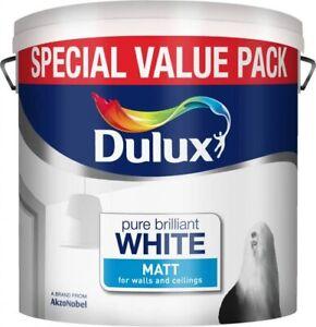 Dulux Pure Brilliant White MATT Emulsion - Walls & Ceilings Paint 6L