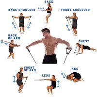 11er Set Fitnessbänder Sport-Fitnessband Widerstandsband Gummiband Gymnastikband