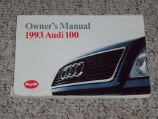 1993 Audi 100 & 100 Quattro Factory Original Owner's Owners User Manual