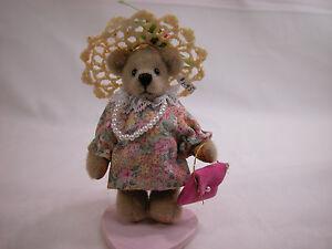 "World of Miniature Bears By Theresa Yang 2.75"" Plush Bear Pearl #760 Closeout"