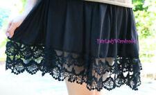 Gonne e minigonne da donna neri senza marca in misto cotone