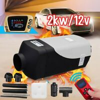 2KW 12V Diesel Air Heater LCD Dynamic Thermostat Switch Remote For Truck 2KW 12V