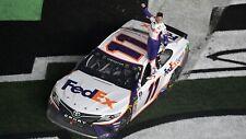 NASCAR SUPERSTAR DENNY HAMLIN WINS 2019 DAYTONA 500  8X10 PHOTO W/BORDERS