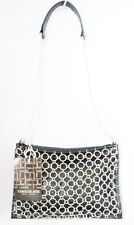NEW CHOCOLATE BRAND BLACK COLOR LEATHERETE SILVER TONE CHAIN ACCENT SHOULDER BAG