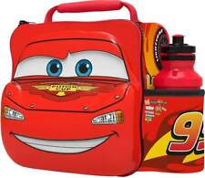 Kids 3D Character McQueen Cars Insulated Lunch Bag With Sports Bottle