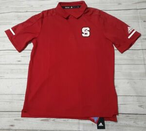 NC State Wolfpack NCAA Adidas Men's Climalite Red Golf Polo Shirt Size M