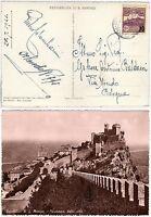 San Marino - 10 cent sovrastampato su cartolina per Bologna, 1941