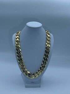 """9ct Gold Men's Heavy Curb Chain - 26"""", 16mm, 495.13g"""