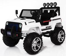 Jeep 4x4 Off Road, 4 Motoren, 2 Akkus Kinderauto Kinderfahrzeug Elektroauto weiß