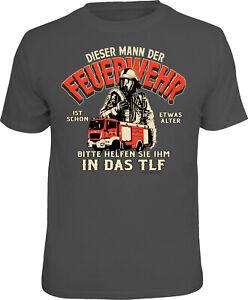 Uomo T-Shirt - Vigile Del Fuoco Ins. Tlf - Regalo Uomini Geburtstag-Shirts