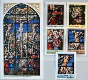 TOGO 1984 1672-76 Block 204 1188-1193 Easter Ostern Religion Paintings Kunst MNH