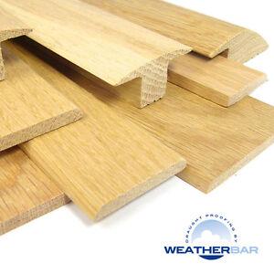 Oak Cover Strip Door Bars, Threshold Strip, Flooring Profile, Gap Cover 89cm Lng
