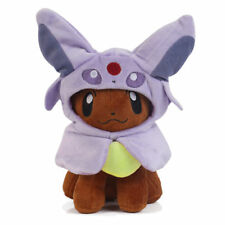 Pokemon Center Eevee Poncho Series Espeon Eifie Costume Cape Plush Toy Doll 7""