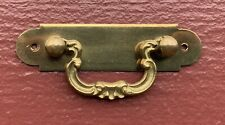 Brass Arts & Crafts French Country Antique Hardware Drawer Pull Trunk Handle