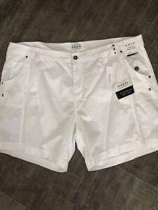 Plus Size 22W Tummy Control Shorts White Dash New