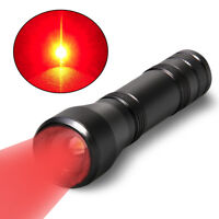 Rechargeable Red LED Flashlight 5 Mode Pilots Read Star Charts Red Light Torch