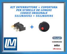 KIT INTERRUTTORE + COPERCHIO PER STIRELLE DE LONGHI ORIGIN 5112810351 5512810591