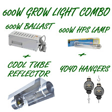 600W HPS BALLAST AND LAMP WITH 150MM COOL TUBE REFLECTOR GROW TENT LIGHT COMBO